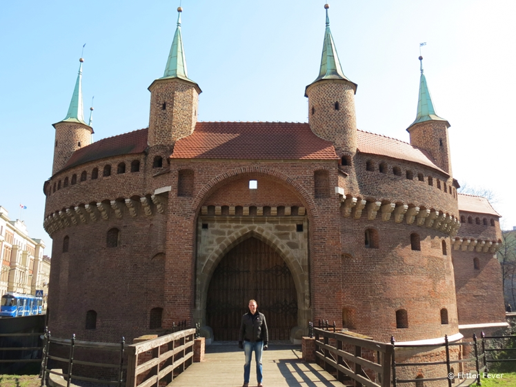 Barbakan Krakowski just outside the old town walls