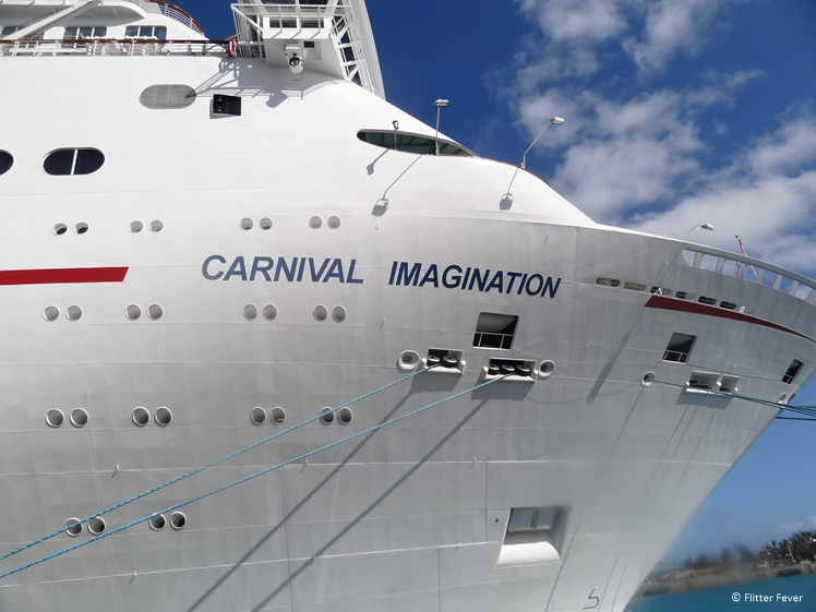 Carnival Imagination cruise ship at the Bahamas