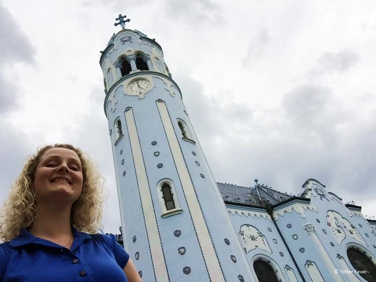 It's hard to take selfies sometimes (Blue Church, Bratislava, Slovakia)