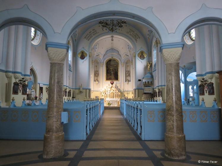 The Blue Church Bratislava interior