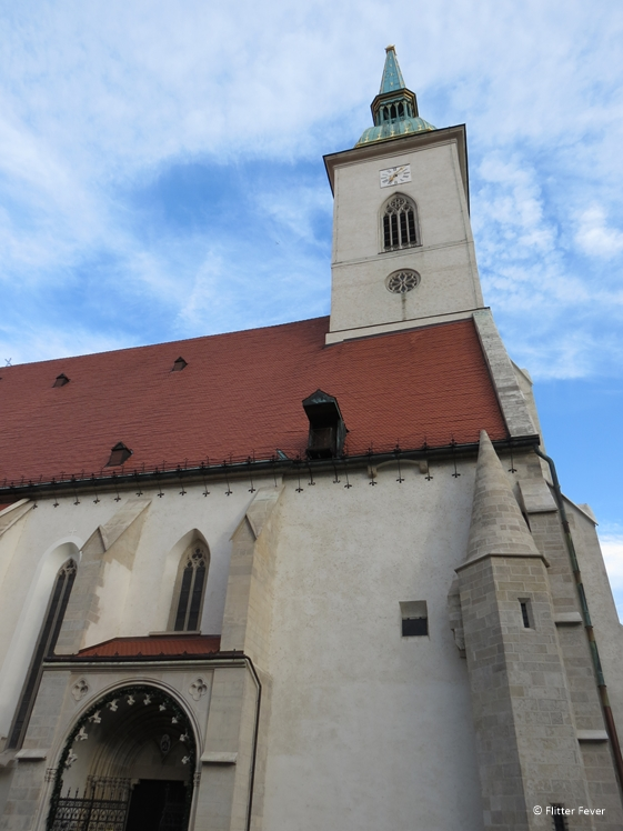 The Cathedral of St. Martin side view Bratislava