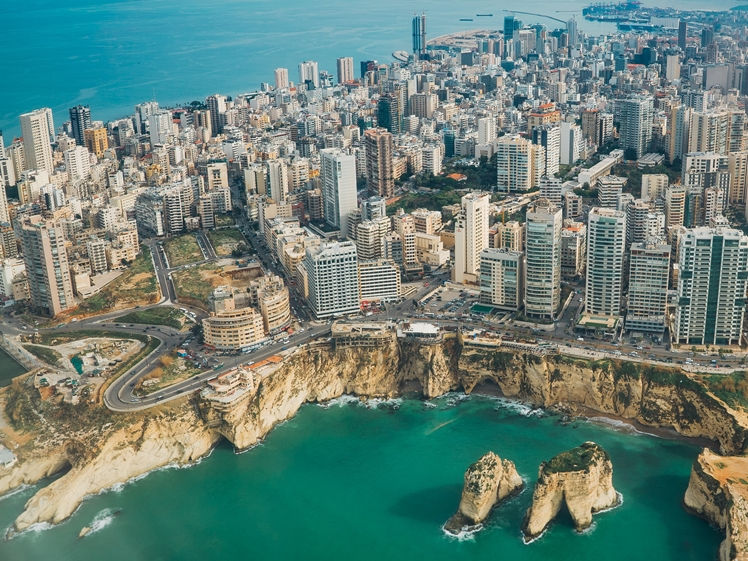 Beirut downtown seen from above