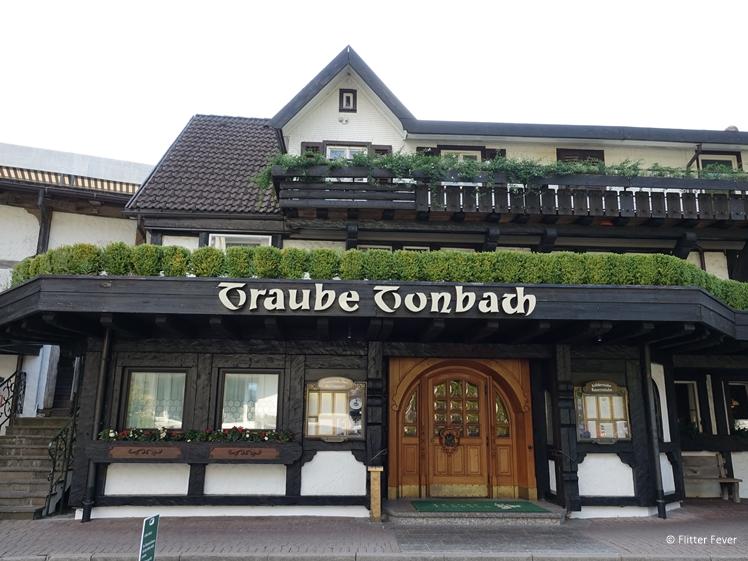 Traube Tonbach - entrance of Michelin star restaurants Köhlerstube and Schwarzwaldstube in Baiersbronn