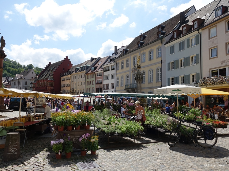 Market at the main square of Freiburg im Breisgau