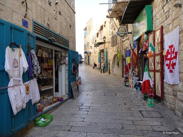 Souvenir shops in Milk Grotto St Bethlehem