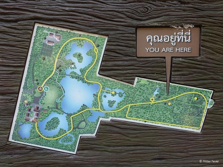 Map of Sri Nakhon Khuean Khan Park and Botanical Garden on Bang Kachao island Bangkok