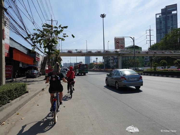 Bicycling bangkok highway Colors of Bangkok