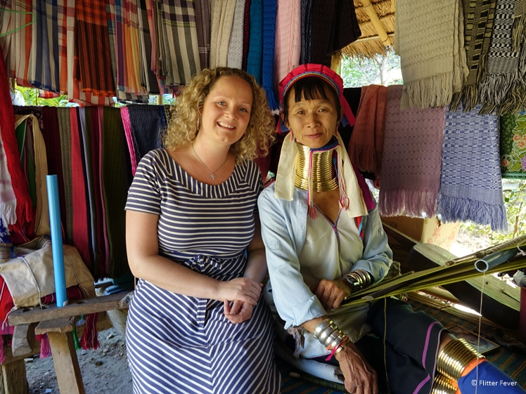 With Long Neck Karen woman in Pai