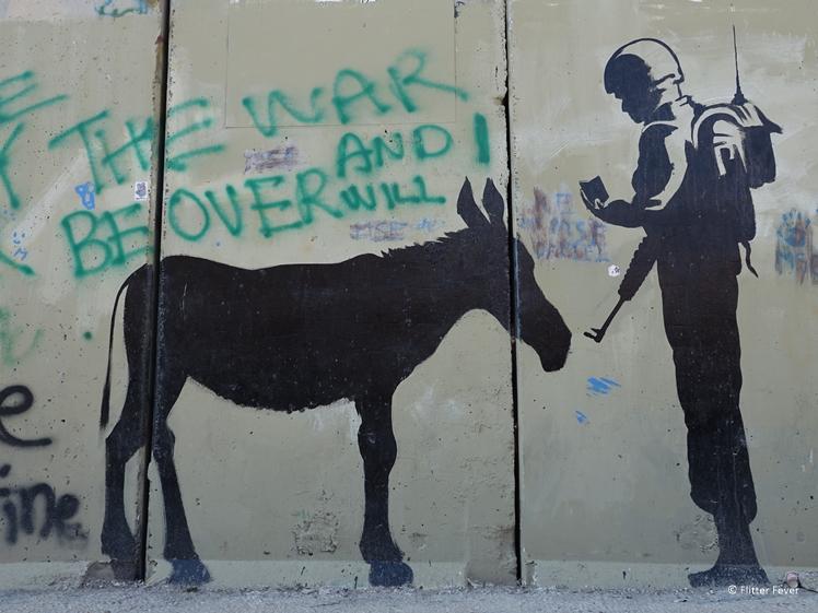 War themed street art in Bethlehem