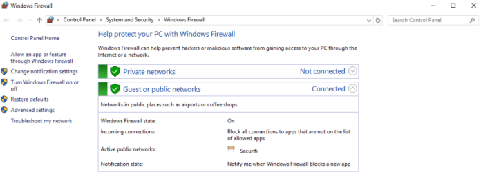 Windows Firewall Settings How to stay private and anonymous on public wifi