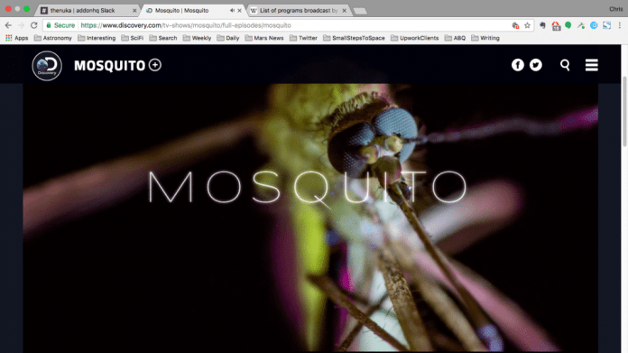 Discovery Channel mosquitos documentary