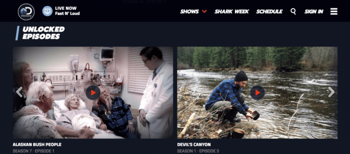 Discovery Channel's unlocked videos