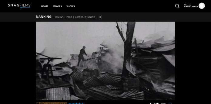 SnagFilms has Nanking