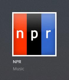 NPR plex channel screenshot