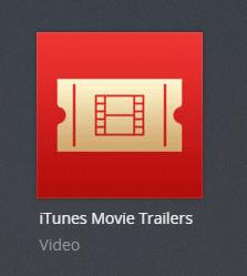itunesmovietrailers plex channel screenshot