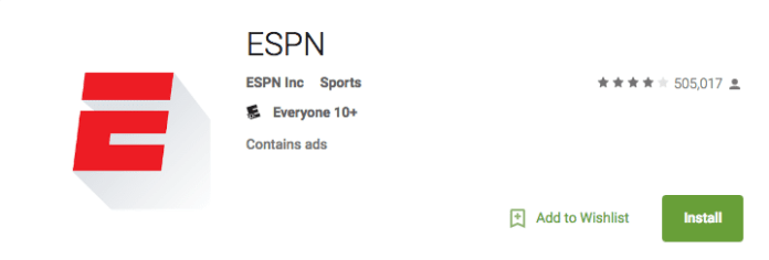 ESPN on Android