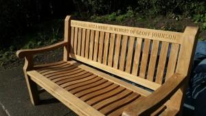Geoff Johnson Memorial Bench