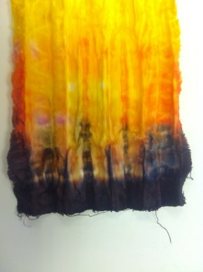 Folded, Bound then Dip Dyed
