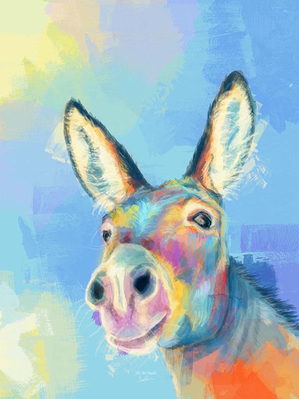 Carefree Donkey Art