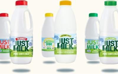 New JUST MILK packaging