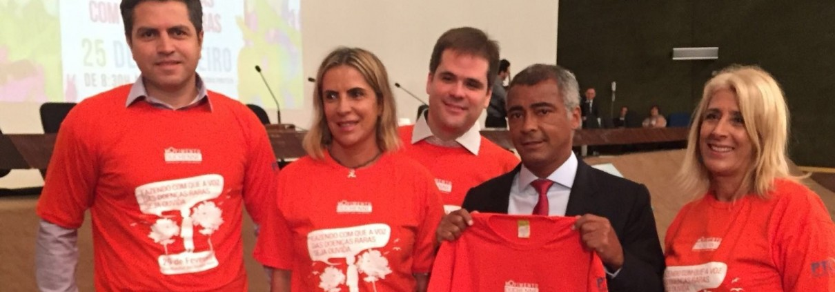 "Romário com Float Health abraçando a causa ""Movimento Duchenne"""