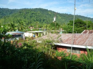 Sandwiched between the banana plantations and the mountains