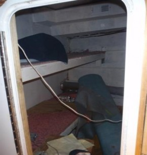 Aft Starboard Cabin PRE-Carpeting