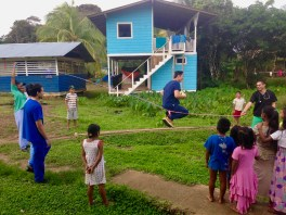Teaching Jump Rope in Front of our Remote Medical Outpost in Quebrada Sal