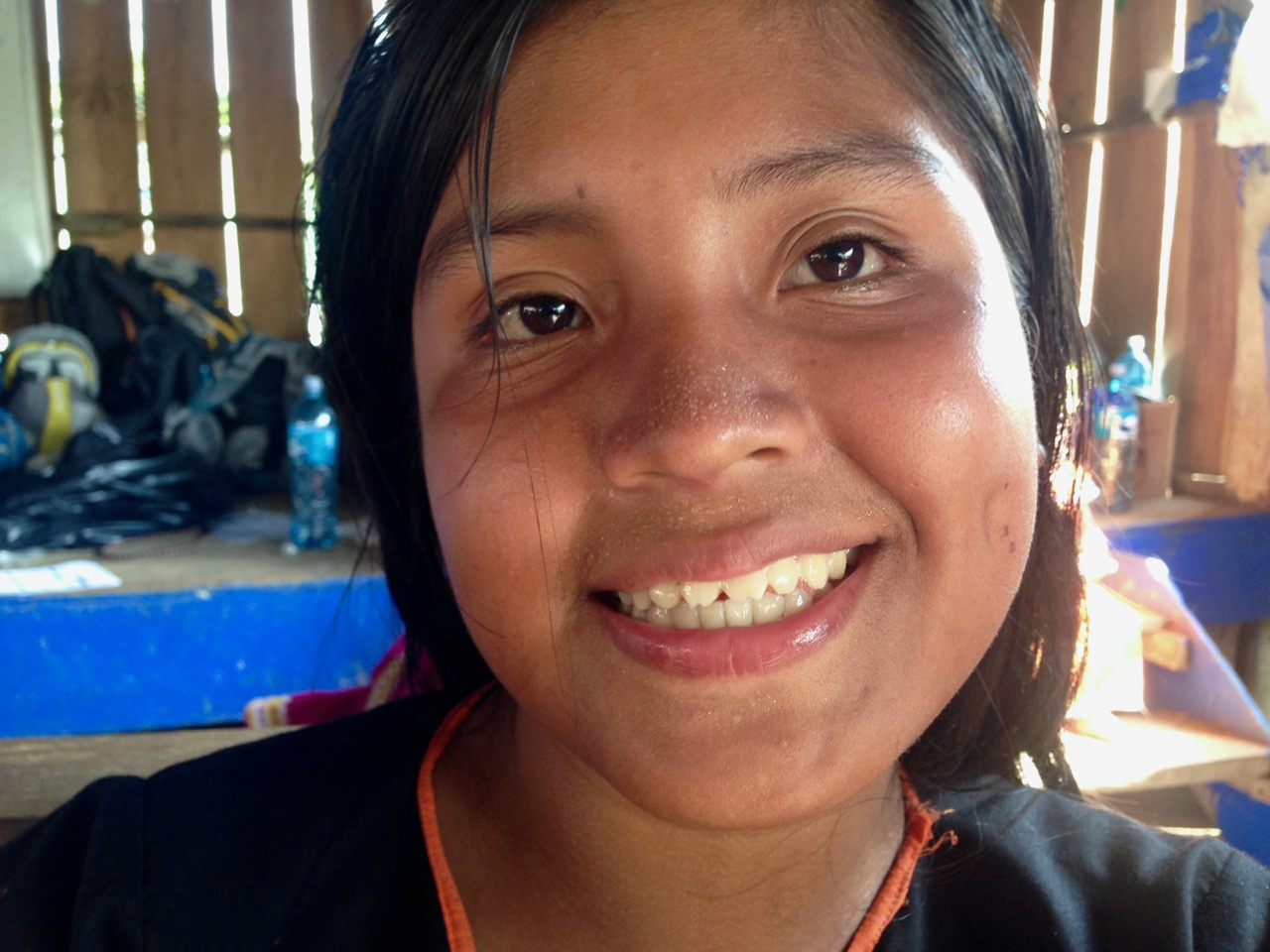 Young Ngabe Woman With Traditional Filed Teeth