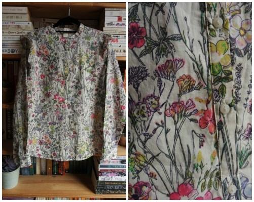 H&M floral ruffle blouse haul