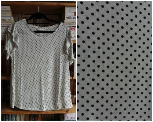 H&M polka dot ruffle sleeve top haul