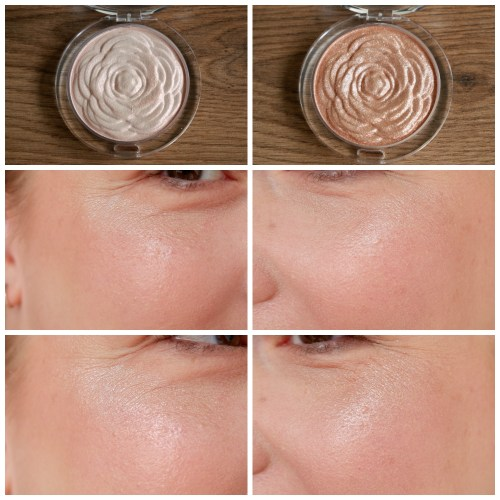 essence bloom baby bloom primer oil highlighter review swatch makeup look application limited edition