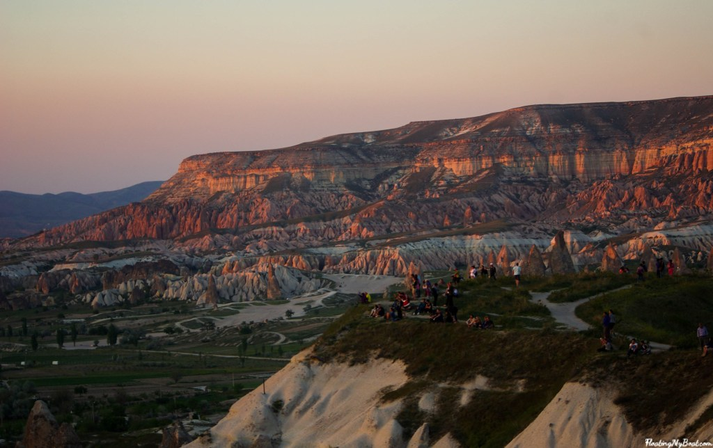sunset in goreme