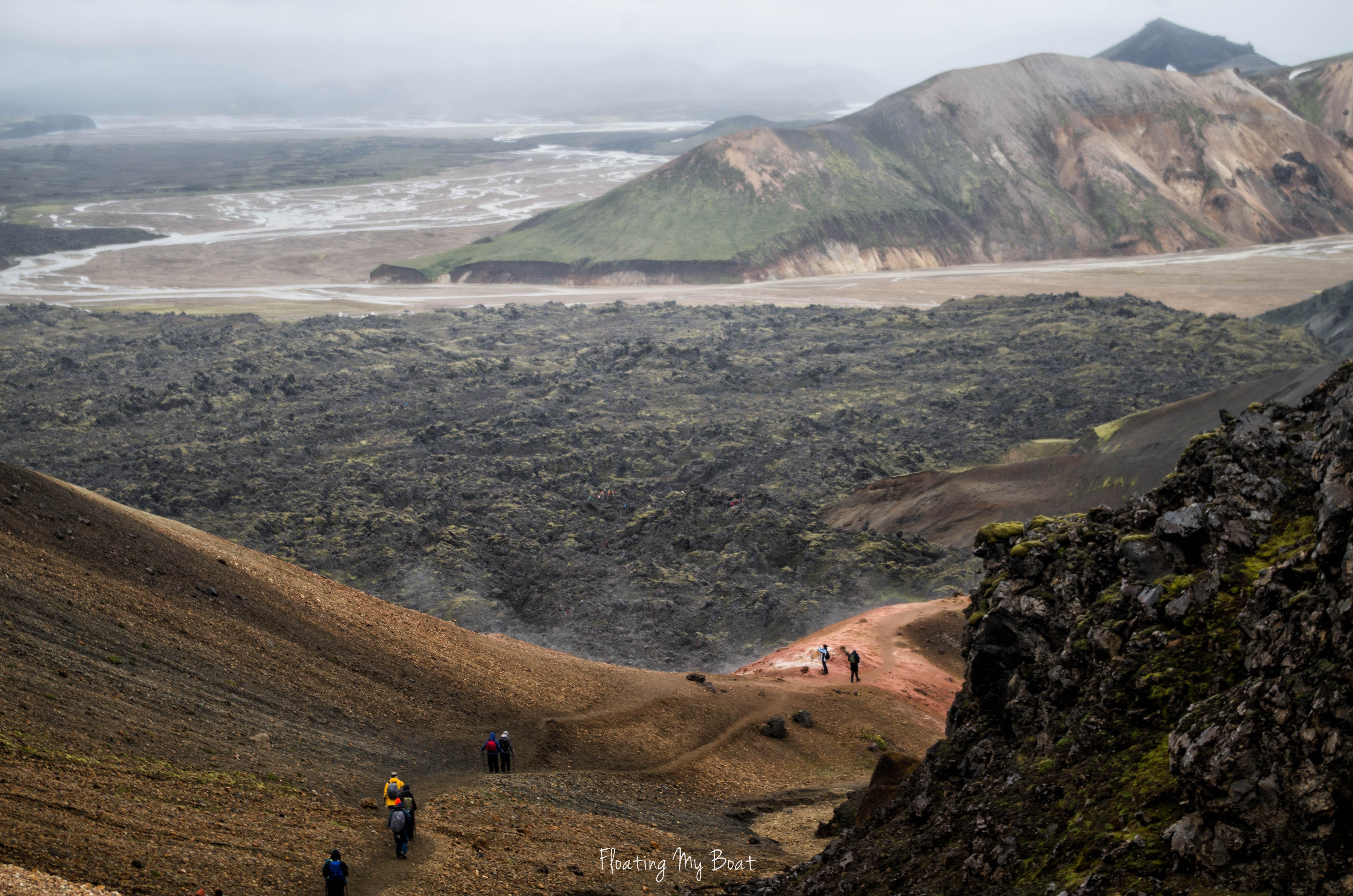 Hiking-Brennisteinsalda-volcano-Landmannalaugar