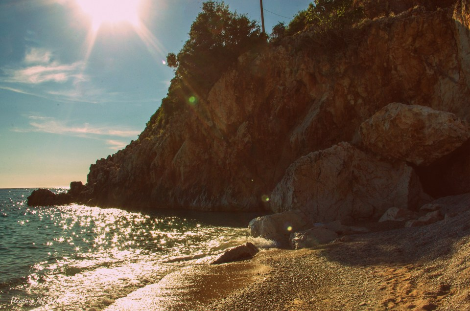 Perfect chill-out on a secluded beach Gjipe in Albania