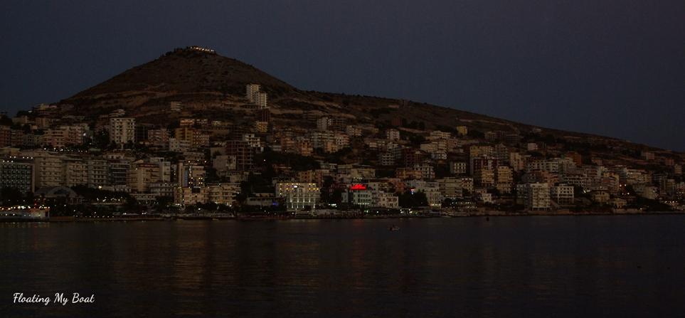 Sarandë at night
