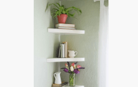 Triangle floating shelves ideas to decor your room ...