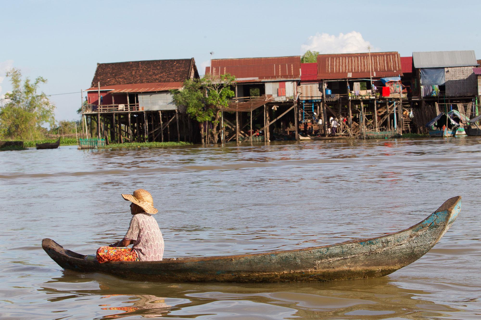 Woman Sitting in Canoe