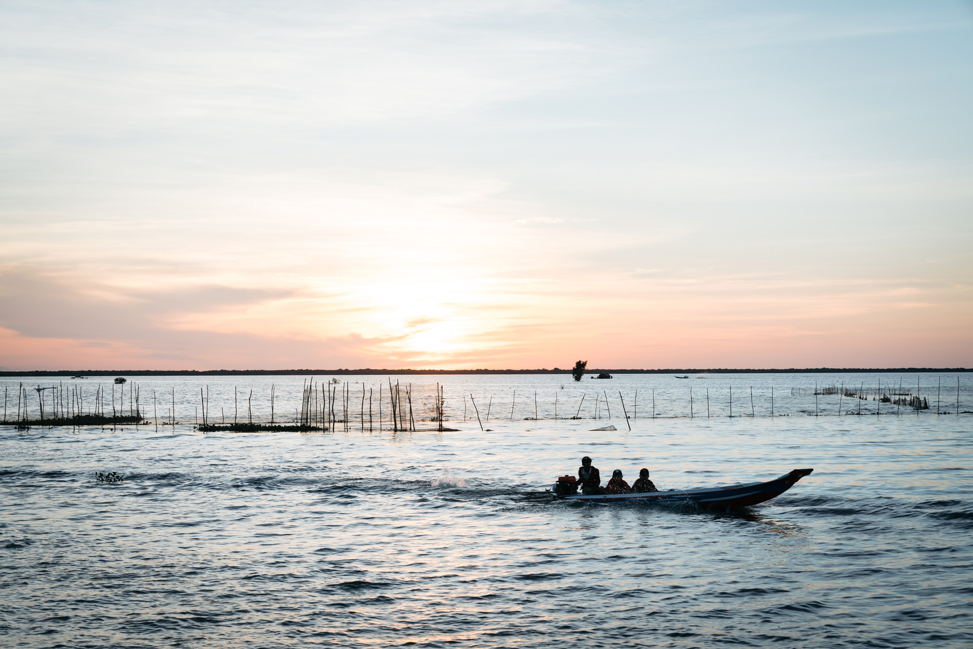 Sunset on Tonle Sap Lake
