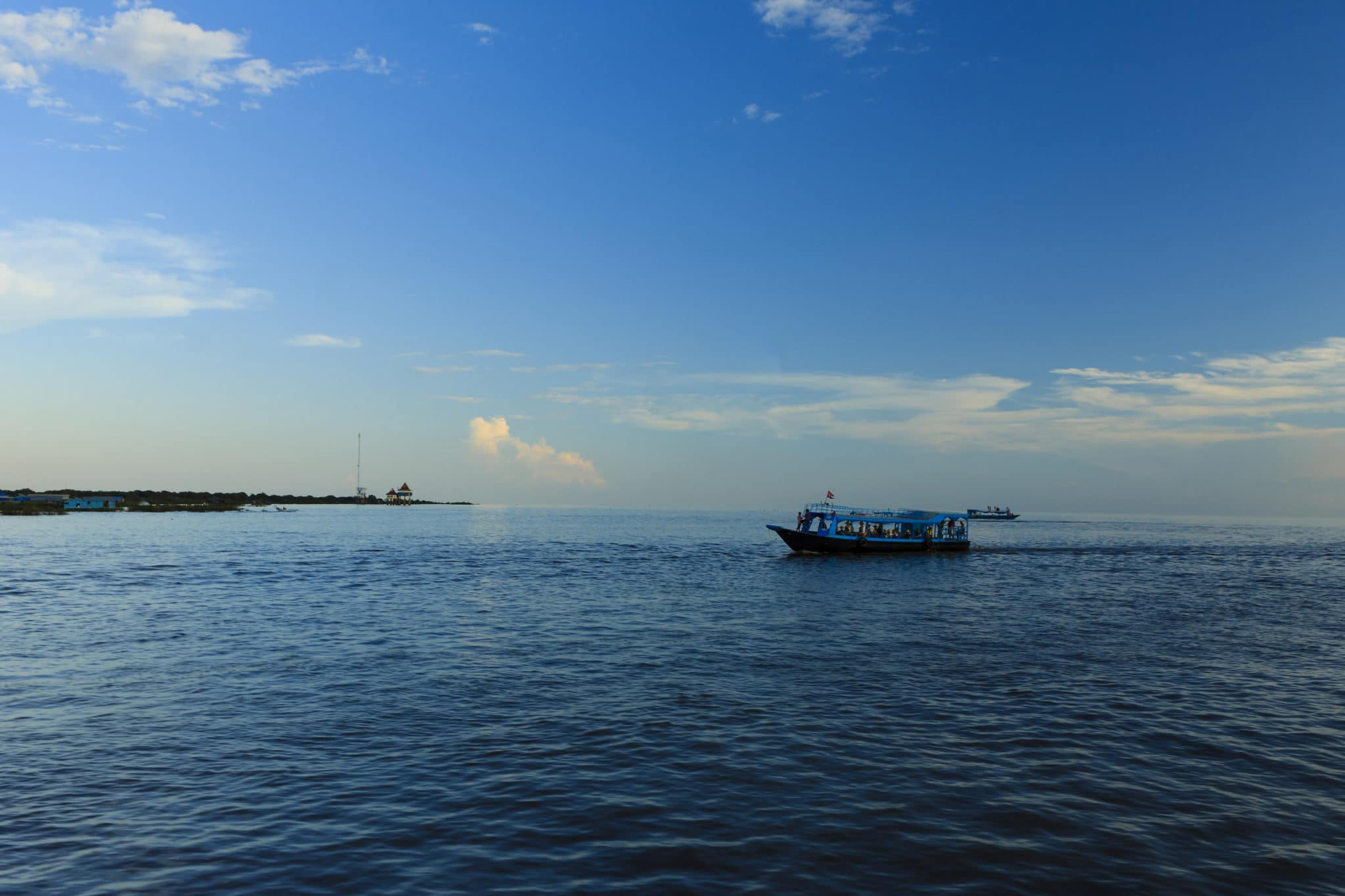 A Boat on the Tonle Sap Lake.