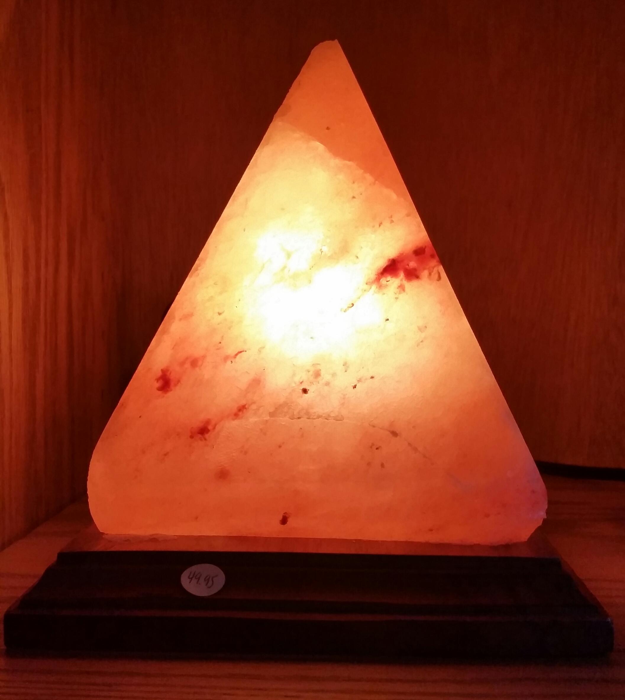 ... Large Pyramid Himalayan Salt Lamp