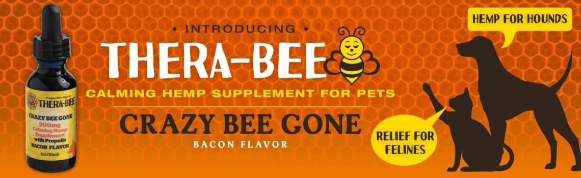 Thera Bee calming hemp supplement for pets