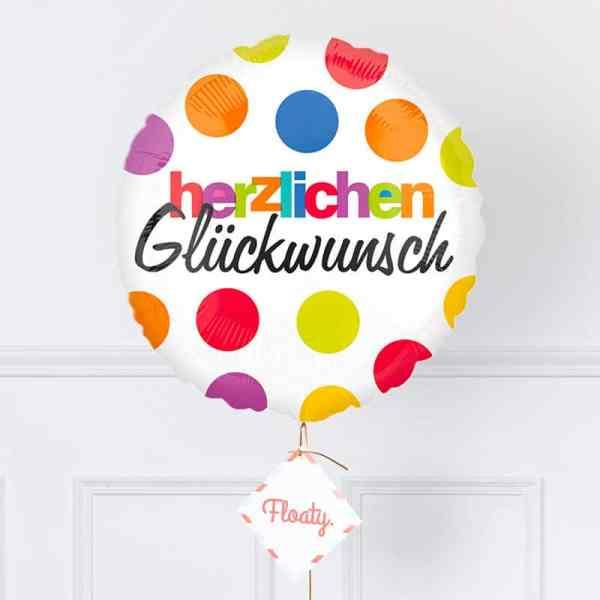 Geburtstagsballon mit Punkten zoom