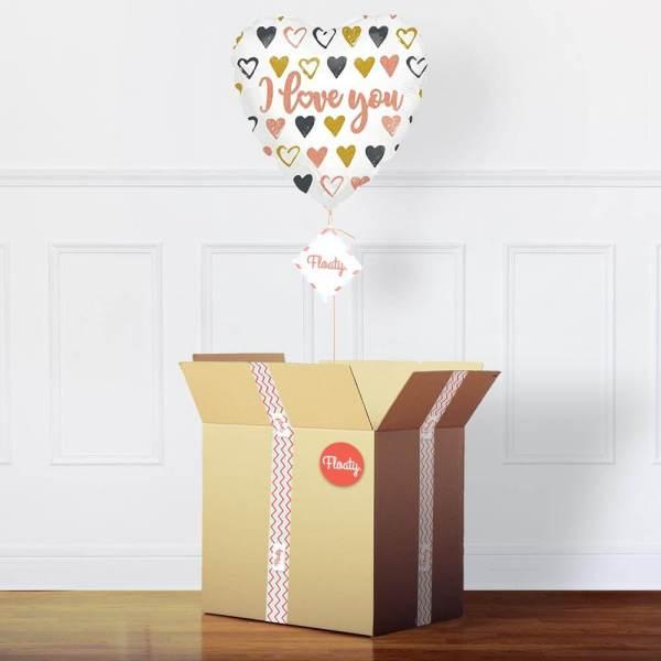 Herzluftballon Ich liebe dich im Paket