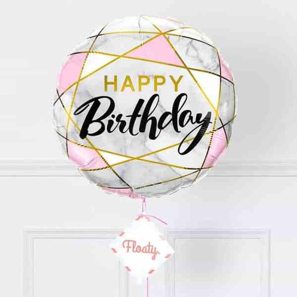 Geburtstagsballon Marmor zoom