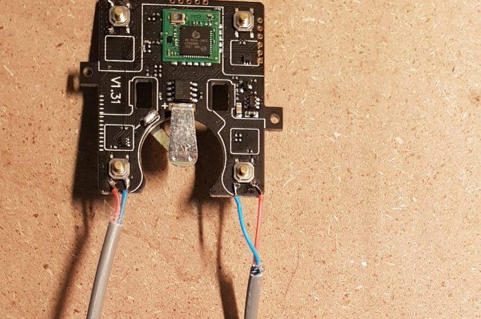 Interrupteur poussoir Z-Wave à pile détourné