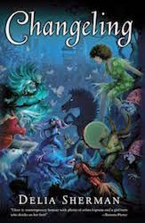 Cover of Delia Sherman's Changeling, showing the undersea otherworld