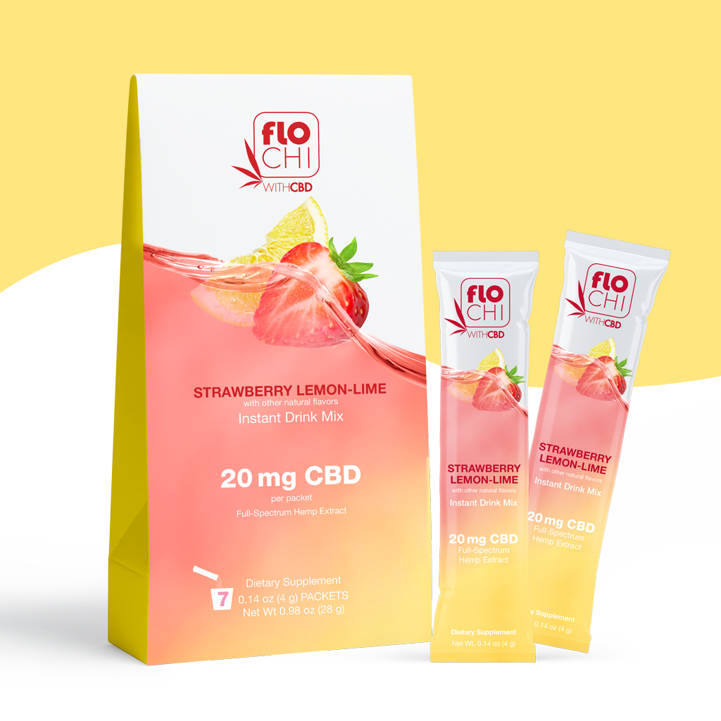 FloChi CBD Powder Sticks Strawberry Lemon Lime Packets