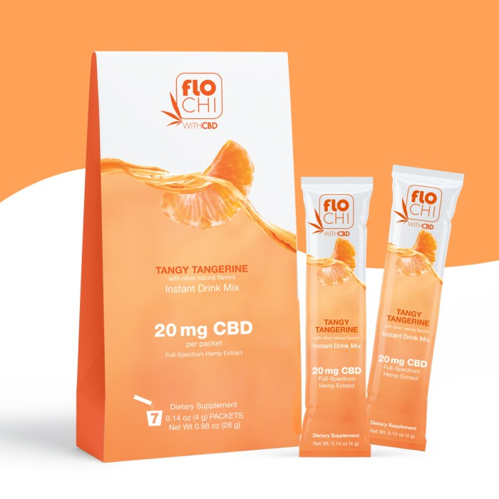 FloChi CBD Powder Sticks Tangerine Packets
