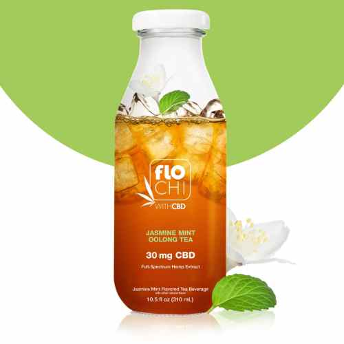 FloChi CBD Iced Tea Jasmine Mint Oolong Tea Flavor